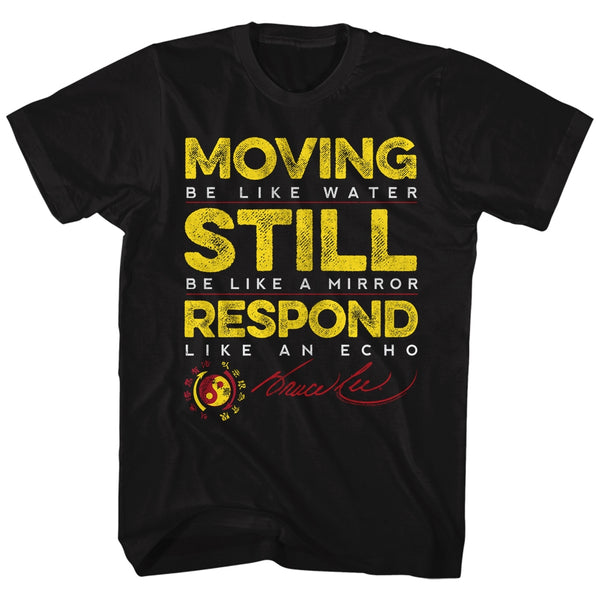 Bruce Lee t-shirt featuring quotes by the legendary martial arts master is available at Rocker Tee