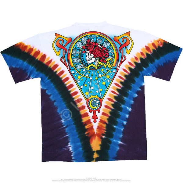 Grateful Dead Beautiful Bertha Tie-Dye T-Shirt is available at Rocker Tee Shirts