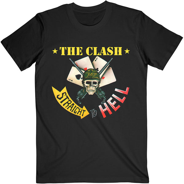 The Clash Unisex Tee: Straight To Hell Single
