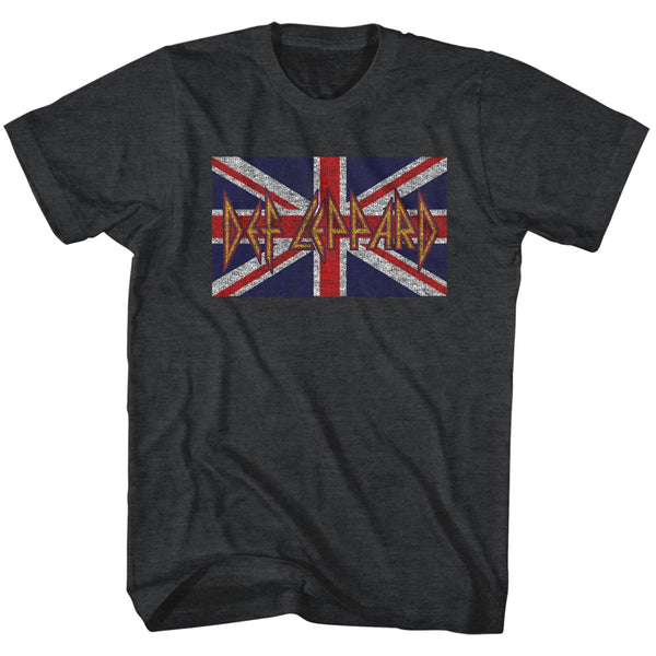 Def Leppard Union Jack adult short sleeve t-shirt.