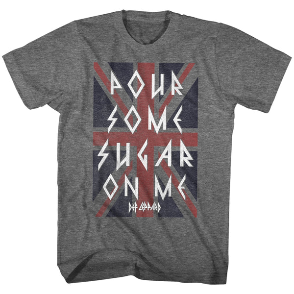 Def Leppard Pour Some Sugar On Me adult short sleeve t-shirt.