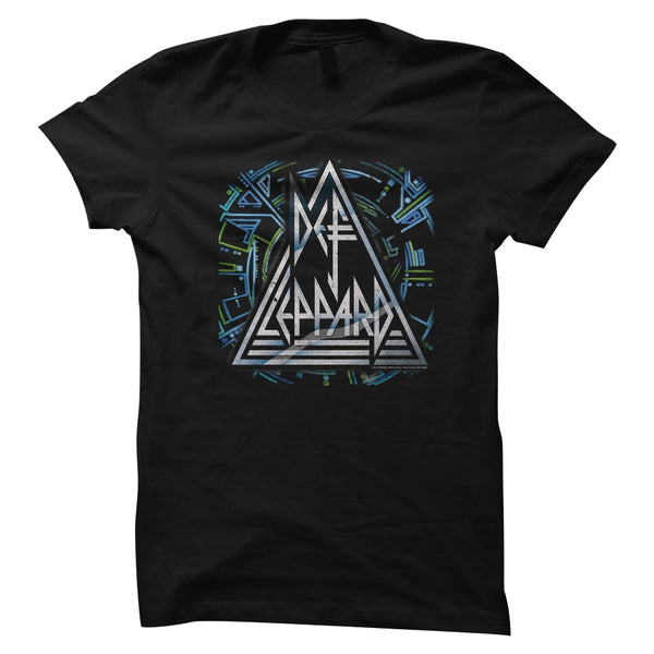 Def Leppard Hysteria artwork juniors short sleeve t-shirt.