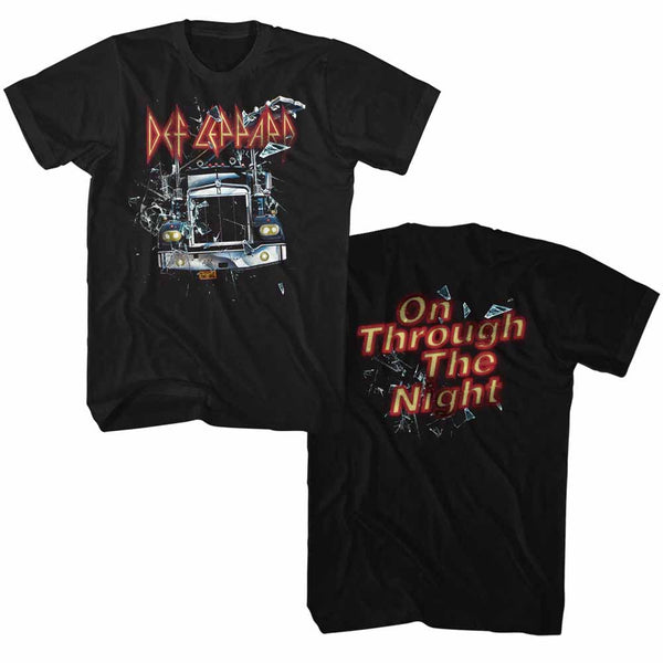 Def Leppard On Through The Night 2 adult t-shirt.
