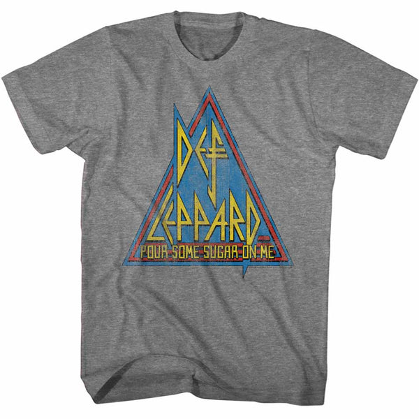 Def Leppard Primary Triangle adult short sleeve t-shirt.