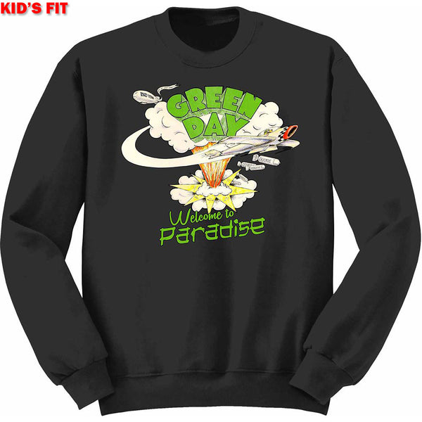 Green Day Kids Sweatshirt: Welcome to Paradise (12 - 13 Years)