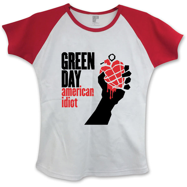 Green Day Ladies Fashion Tee: American Idiot (Skinny Fit)
