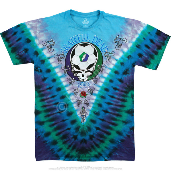 Grateful Dead Cal State Tie-Dye T-Shirt is available at Rocker Tee Shirts.