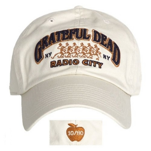 Grateful Dead Radio City Music Hall 10/80 Hat is available at Rocker Tee