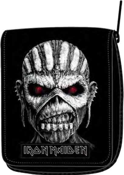 Iron Maiden Book of Souls Eddie Bi-Fold Zip Wallet is available at Rocker Tee