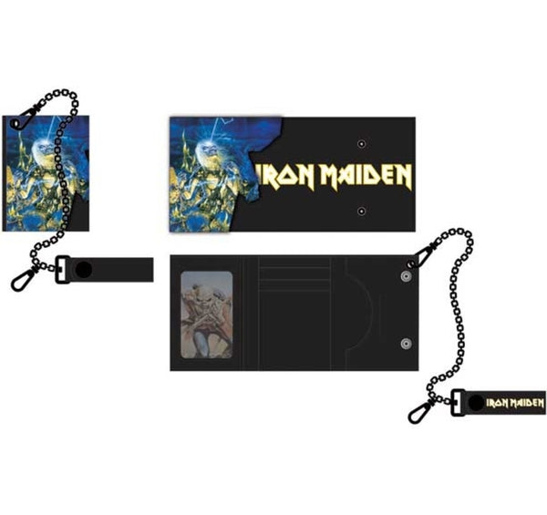 Iron Maiden Tri-Fold Wallet is available at Rocker Tee