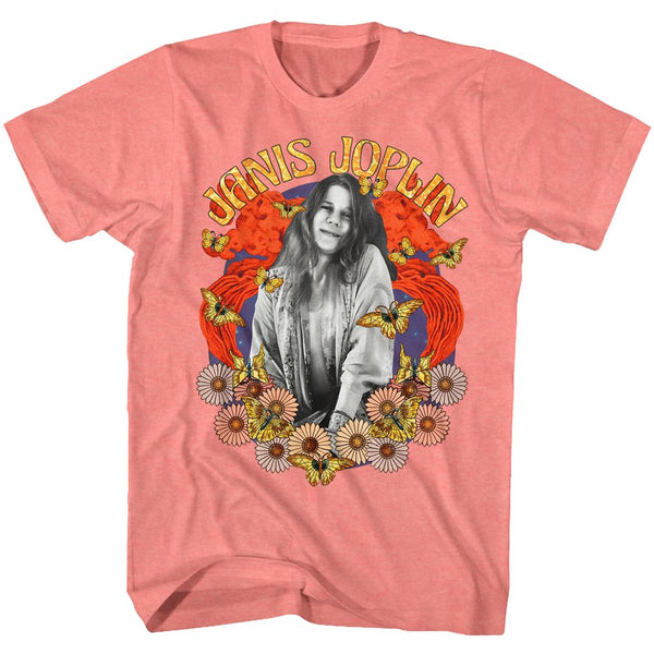 Janis Joplin Collage Ladies Tee