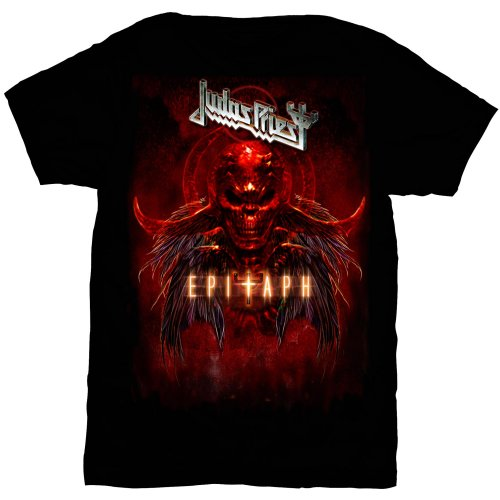 Judas Priest Unisex Tee: Epitaph Red Horns