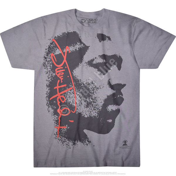 Jimi Hendrix Hey Joe custom tie-dyed t-shirt is available at Rocker Tee.