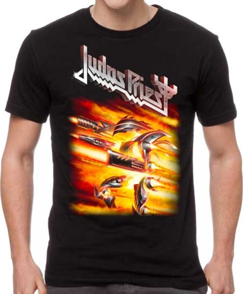 Judas Priest Firepower t-shirt is available at Rocker Tee