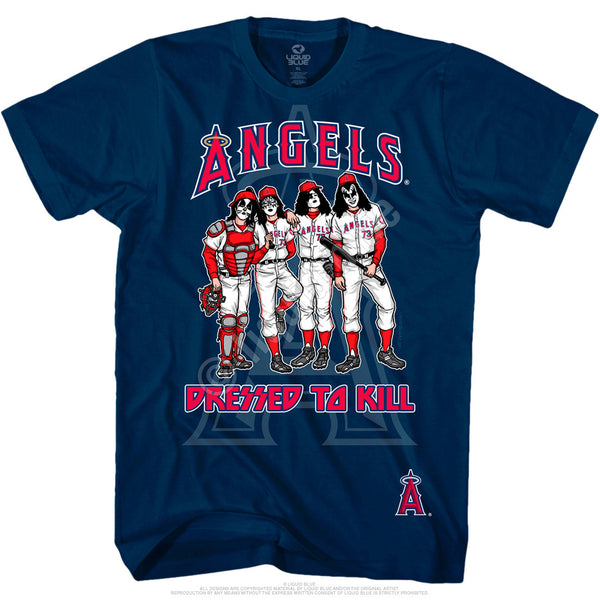 Los Angeles Angels Dressed to Kill Navy T-Shirt is available at Rocker Tee