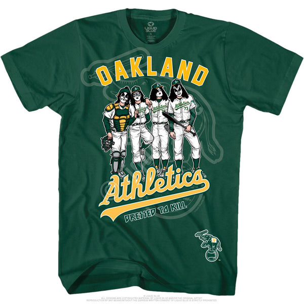 Oakland Athletics Dressed to Kill Green T-Shirt is available at Rocker Tee