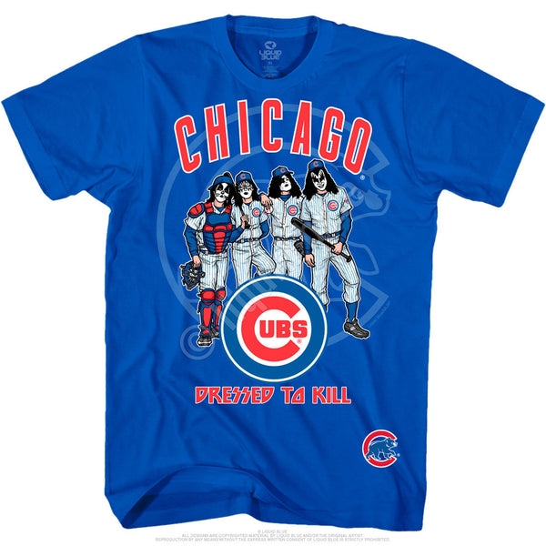 Chicago Cubs Dressed to Kill Blue T-Shirt is available at Rocker Tee