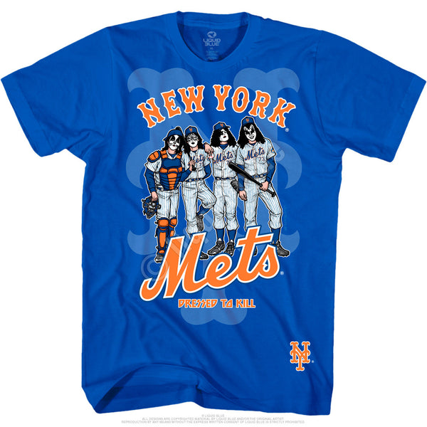 New York Mets Dressed to Kill Blue T-Shirt is available at Rocker Tee