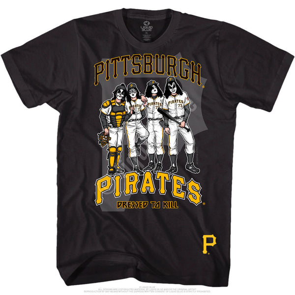 Pittsburgh Pirates Dressed to Kill Black T-Shirt is available at Rocker Tee