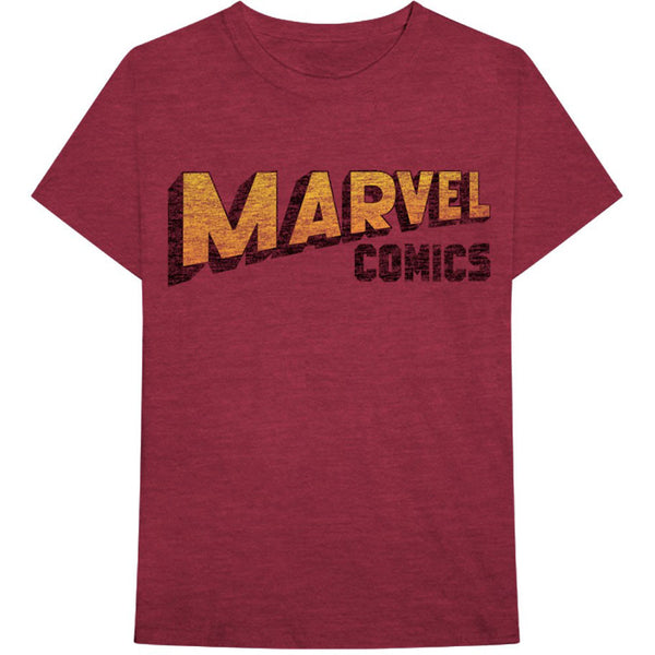 Marvel Comics Unisex Tee: Warped Logo