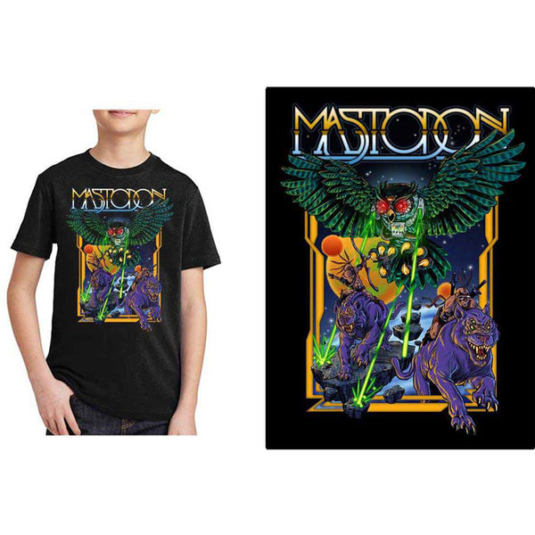 Mastodon Kids Tee: Space Owl (13 - 14 Years)