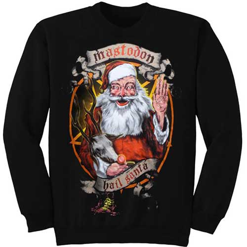 Mastodon Unisex Sweatshirt: Hail Santa Holiday (XX-Large)