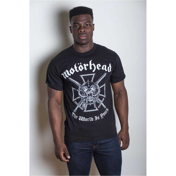 Motorhead Unisex Tee: Iron Cross (Back Print)