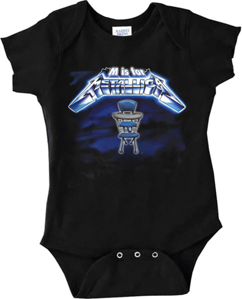 M is for Metallica Onesie is available at Rocker Tee