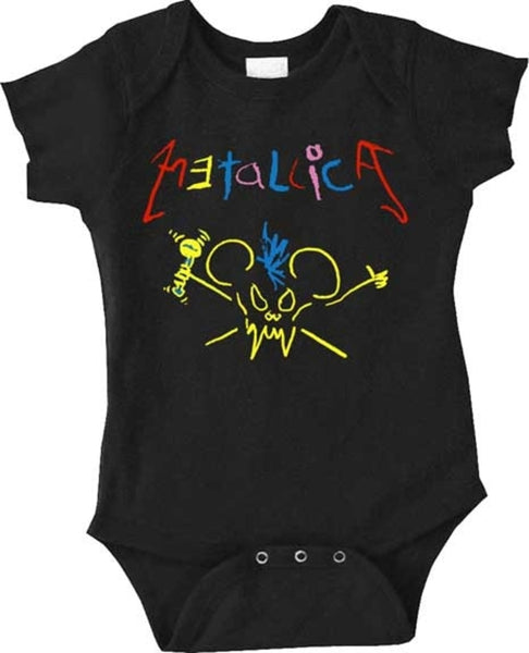 Metallica Scary Guy Mouse Onesie is available at Rocker Tee