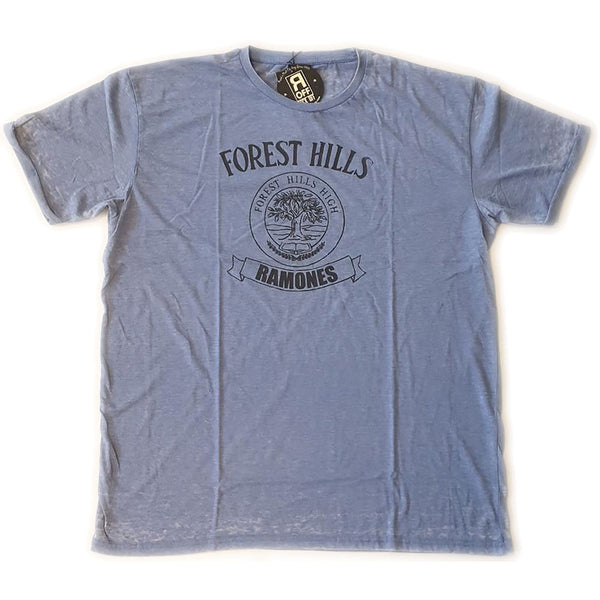 Ramones Unisex Fashion Tee: Forest Hills Vintage (Burn Out)