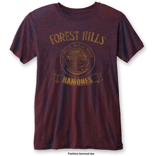 Ramones Unisex Fashion Tee: Forest Hills (Burn Out)