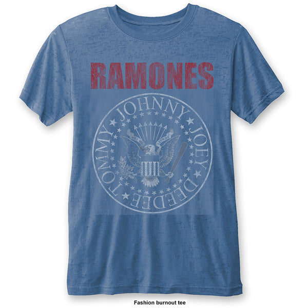 Ramones Unisex Fashion Tee: Presidential Seal (Burn Out)