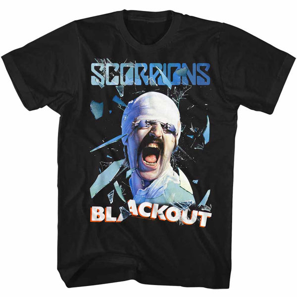 Scorpions Blackout adult short sleeve t-shirt.
