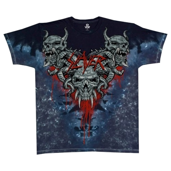Slayer Hell Awaits custom tie-dye t-shirt is available at Rocker Tee