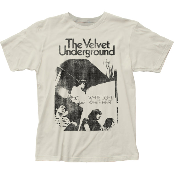 Officially licensed Velvet Underground White Light White Heat fitted jersey t-shirt is available at Rocker Tee.