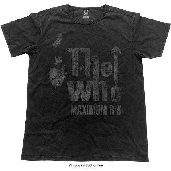 The Who Unisex Fashion Tee: Max R&B Vintage (Vintage Finish) (XX-Large)