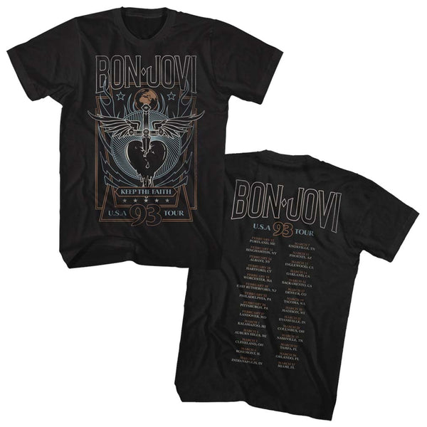 Bon Jovi Keep The Faith 93 Tour T-Shirt is available at Rocker Tee