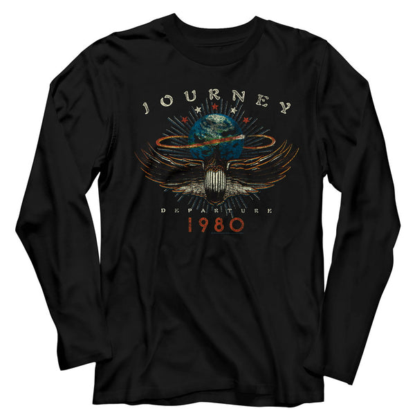Journey Departure 1980 Long Sleeve Shirt is available at Rocker Tee.