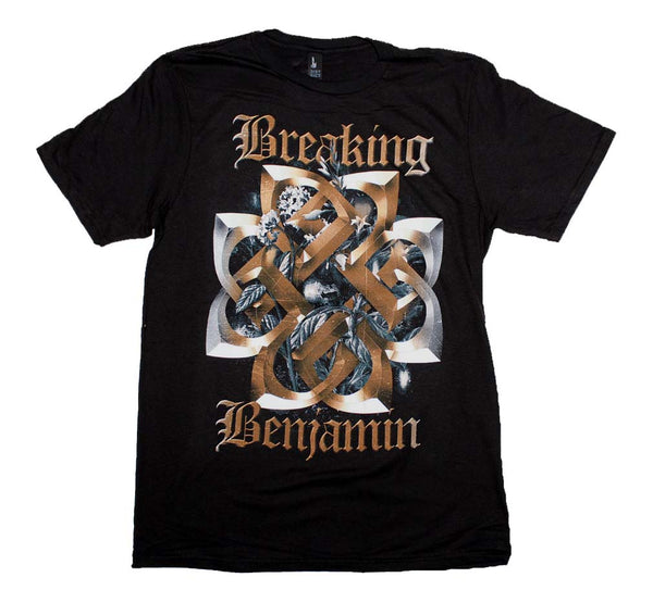 Breaking Benjamin Floral Symbol T-Shirt is available at Rocker Tee.