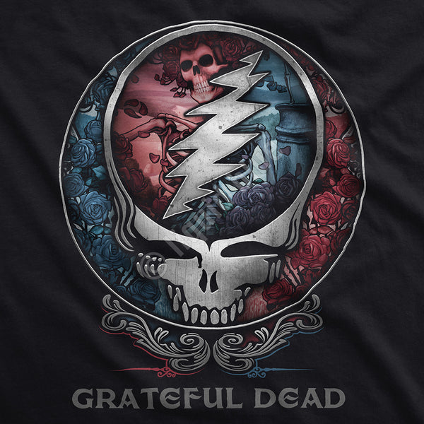 Grateful Dead Beautiful Bertha Black T-Shirt is available at Rocker Tee Shirts