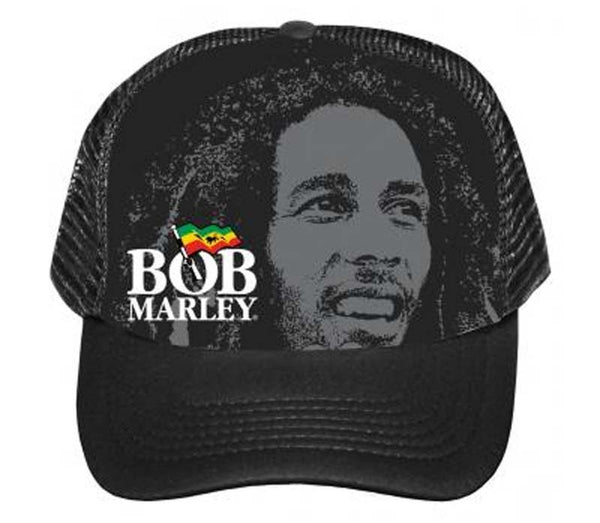 Bob Marley portrait hat is available at Rocker Tee Shirts.