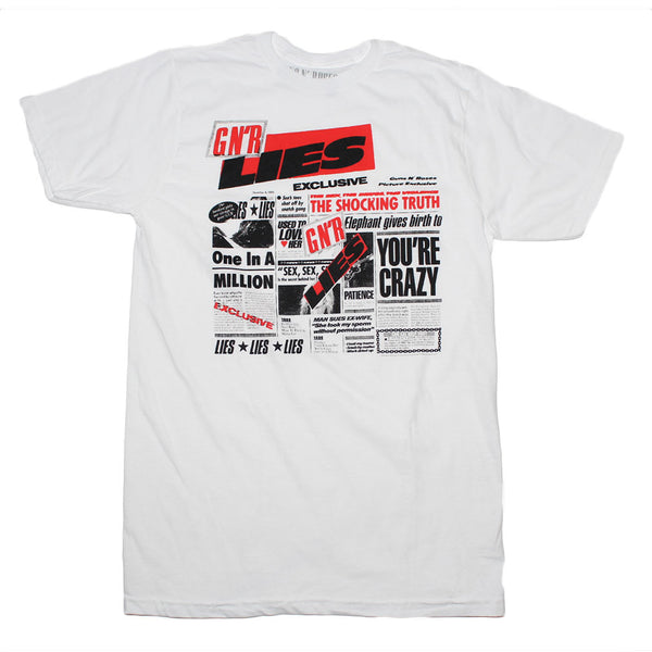 Guns n Roses Lies t-shirt is available at Rocker Tee.