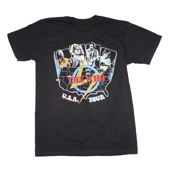 The Who USA Tour t-shirt is available at Rocker Tee