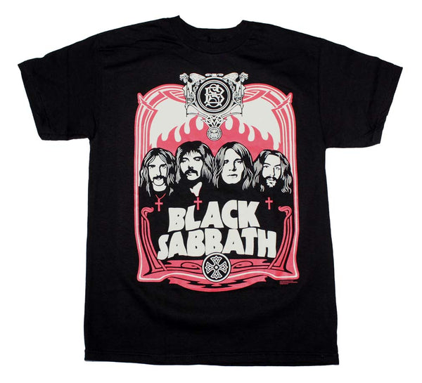 Black Sabbath Red Flames T-Shirt is available at Rocker Tee.