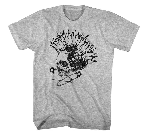 CBGB Skull Punk and Pins T-Shirt is available at rockerteeshirts.com