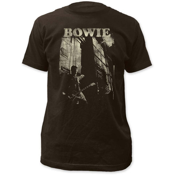 David Bowie T-Shirt Featuring David Bowie with a guitar is available at Rocker Tee