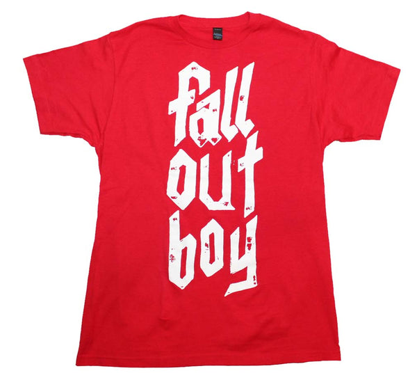 Fall Out Boy Metal Stack Soft T-Shirt is available at Rocker Tee