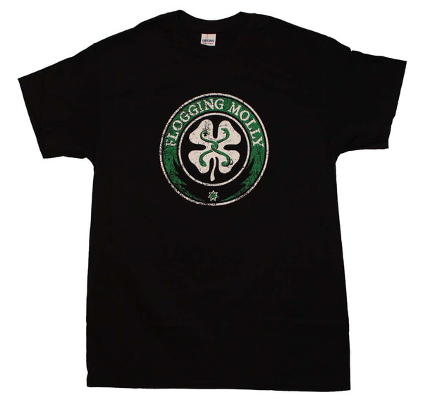 Flogging Molly T-Shirt Featuring The Classic Logo and it's available at RockerTeeShirts.com
