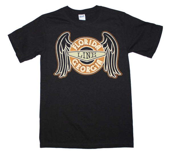 Florida Georgia Line T-Shirt Featuring The Angel Wings Logo and it's available at RockerTeeShirts.com