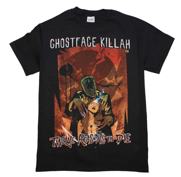 Ghost Face Killah T-Shirt Featuring Twelve Reasons to Die and it's available at RockerTeeShirts.com